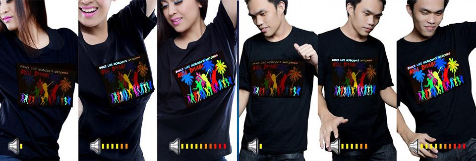 864a035215cd Led tričká s vlastným logom - LED-Tricka.sk